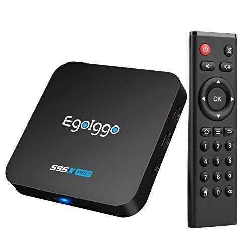 Android 6.0 TV Box 2GB Ram 16GB eMMC EgoIggo S95X Pro Smart TV Box mit Amlogic S905X Quad-Core Prozessor HDMI LAN SPDIF unterstützt 4K HD 2.4 GHz WiFi