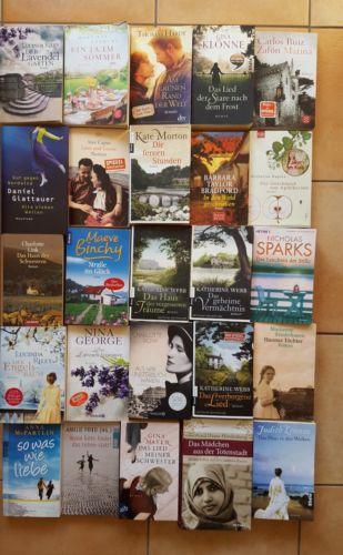 25 Frauenromane Bücherpaket, Büchersammlung
