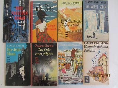 145 Bücher Taschenbücher rororo Verlag bis Seriennummer 8000