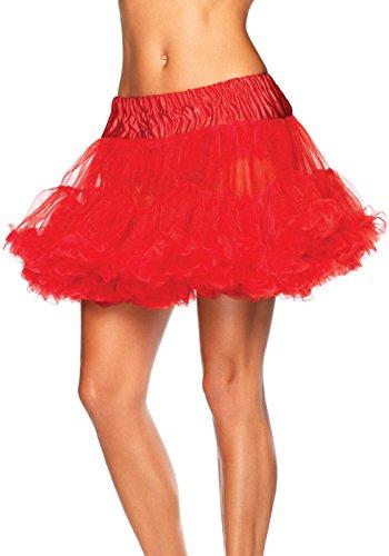 Leg Avenue 8990 - Petticoat rot Kostüm Damen Karneval, Einheitsgröße (EUR 36-40)