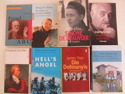 81 Bücher Biografie Biographie Lebenserinnerungen Autobiografie Lebensgeschichte
