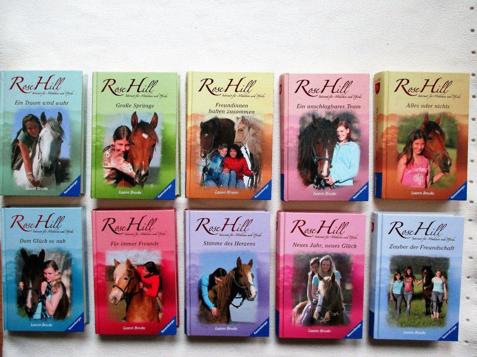 Rose Hill Internat für Mädchen u. Pferde   Bücherpaket/Jugendbücher  10 Bücher