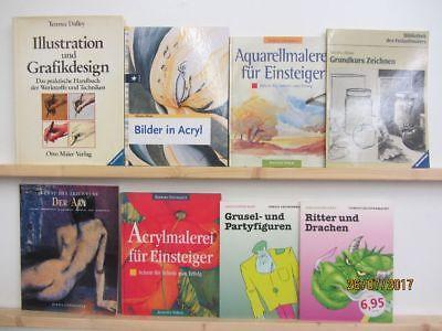 39 Bücher Bildbände Malen lernen Zeichnen lernen Aktzeichnen Acrylmalerei u.a.