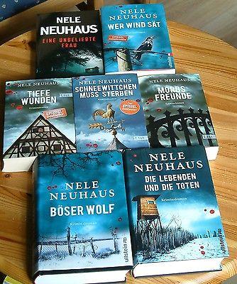 Nele Neuhaus  Bücherpaket 7x Taunus/Krimi mit dem Duo Bodenstein und Kirchhoff