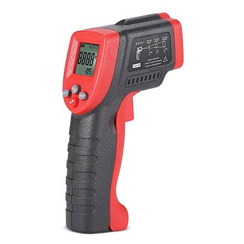 meterk MK420-50~ 420°C 12: 1Multifunktions Mini Handheld ohne Kontakt LCD Digital Infrarot-Thermometer IR Temperatur Tester Pyrometer mit Hintergrundbeleuchtung verstellbar Emissionsgrad