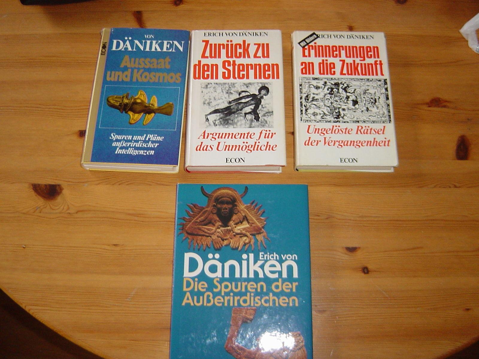 4x Erich von Däniken; Zurück zu den Sternen Erinnerungen an die Zukunft Aussaat