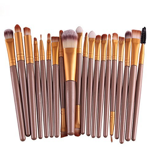 Hosaire 20 pcs/set Makeup Brush Professionelle Beauty Make Up Pinsel Mode Braun+Golden Berufsverfassungs Kosmetische Make-up Bürste Set Gesichtspinsel