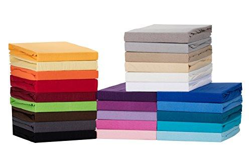 Medicate® Comfort Jersey Spannbettlaken, Spannbetttuch - in viele Farben und alle Größen - 100% Cotton/Baumwolle (140x200 - 160x200 cm, Grau)