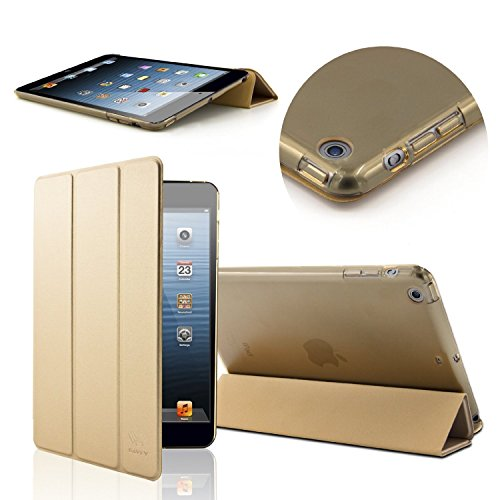SAVFY Apple iPad Air Hülle Gold Case iPad Schutzhülle Auto Sleep/Wake up Funktion mit Magnet Smart Cover gold