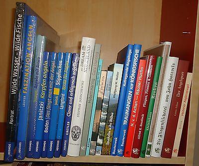 23 tolle Bücher über ANGELN / FISCHEN / Fliegenfischen/Fisch - Top-Paket !!