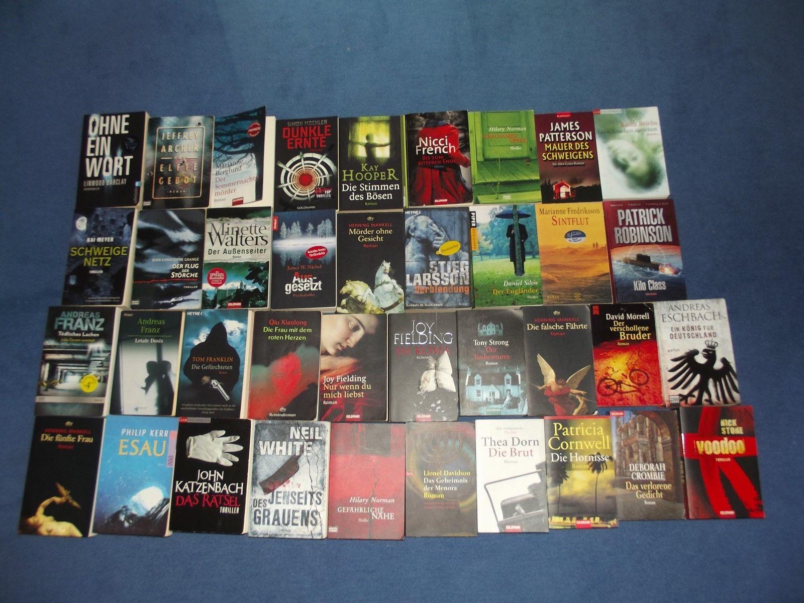 Top-Bücherpaket 38 Bücher Krimis/Thriller versch.Autoren