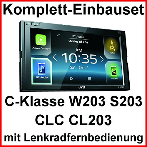 Komplett Set Mercedes C-Klasse W203 CLC CL203 S203 JVC KW-M730BT Bluetooth Carplay Android Auto USB MP3 Autoradio