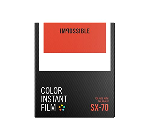 Impossible 4512 Color Sofortbildfilm für Polaroid SX70 Kameras 8 Aufnahmen