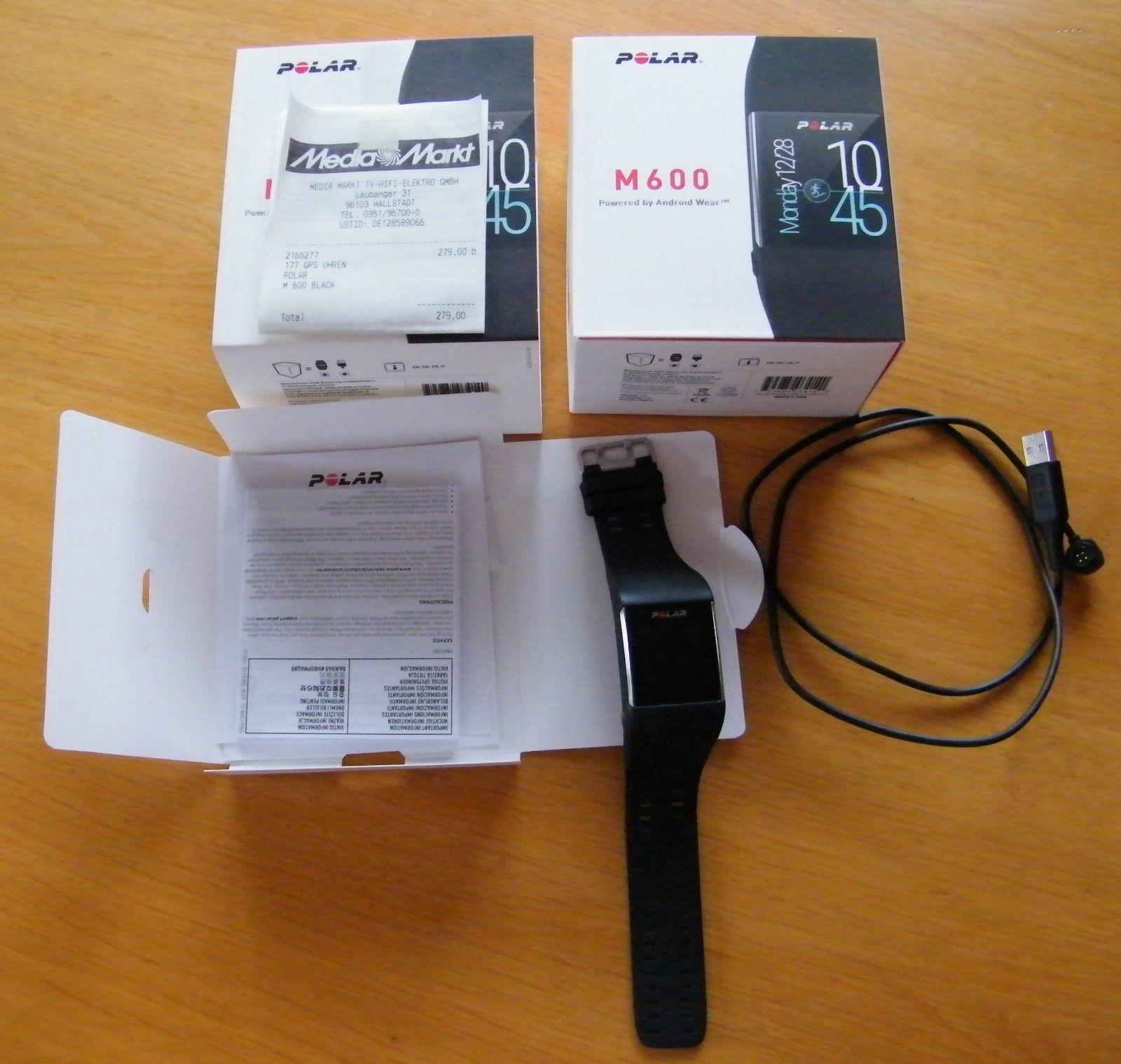 Sport Smartwatch Polar M600 Neuwertig in OVP, schwarz, mit Garantie