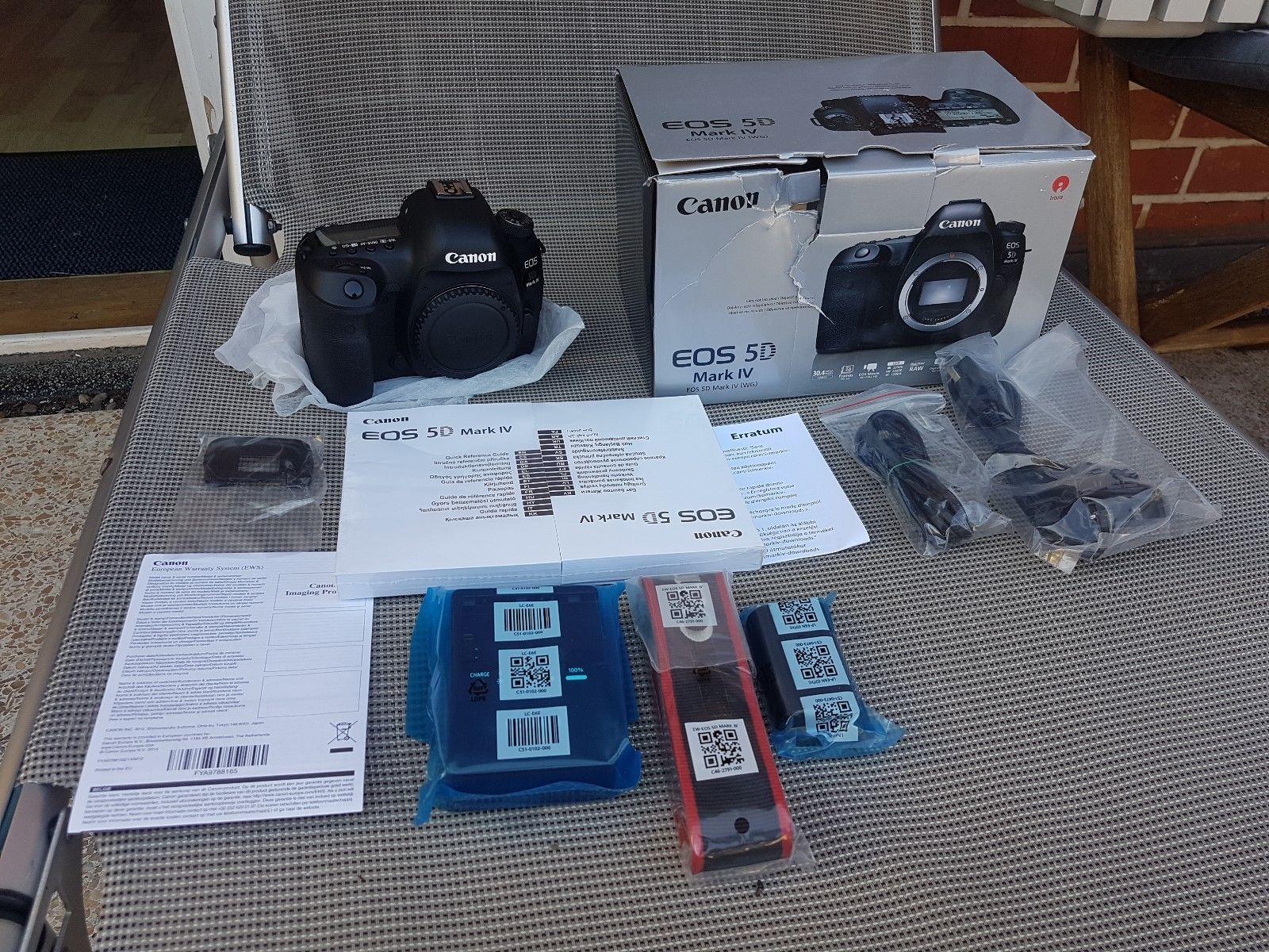 Canon EOS 5D Mark IV 30.4MP Digitalkamera in Schwarz.