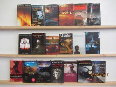 Henning Mankell 19 Bücher Romane Krimi Thriller Psychothriller Top Titel