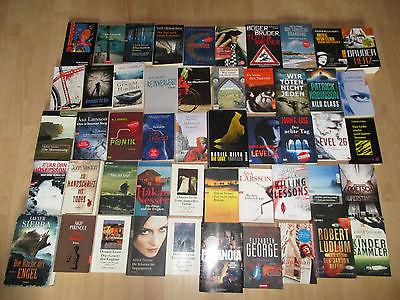 Große Büchersammlung Krimi Thriller Paket 50 St. Bücher Buch Sammlung Konvolut