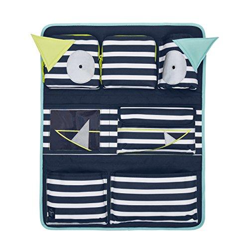 Lässig Car Wrap-to-Go Auto-Utensilientasche Autorücksitzorganizer/Rücksitztasche für Auto oder Kinderzimmer zum Hängen, Navy Türkis