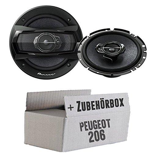 Peugeot 206 - Pioneer TS-A1733i 17cm 3-Wege Lautsprecher - Einbauset