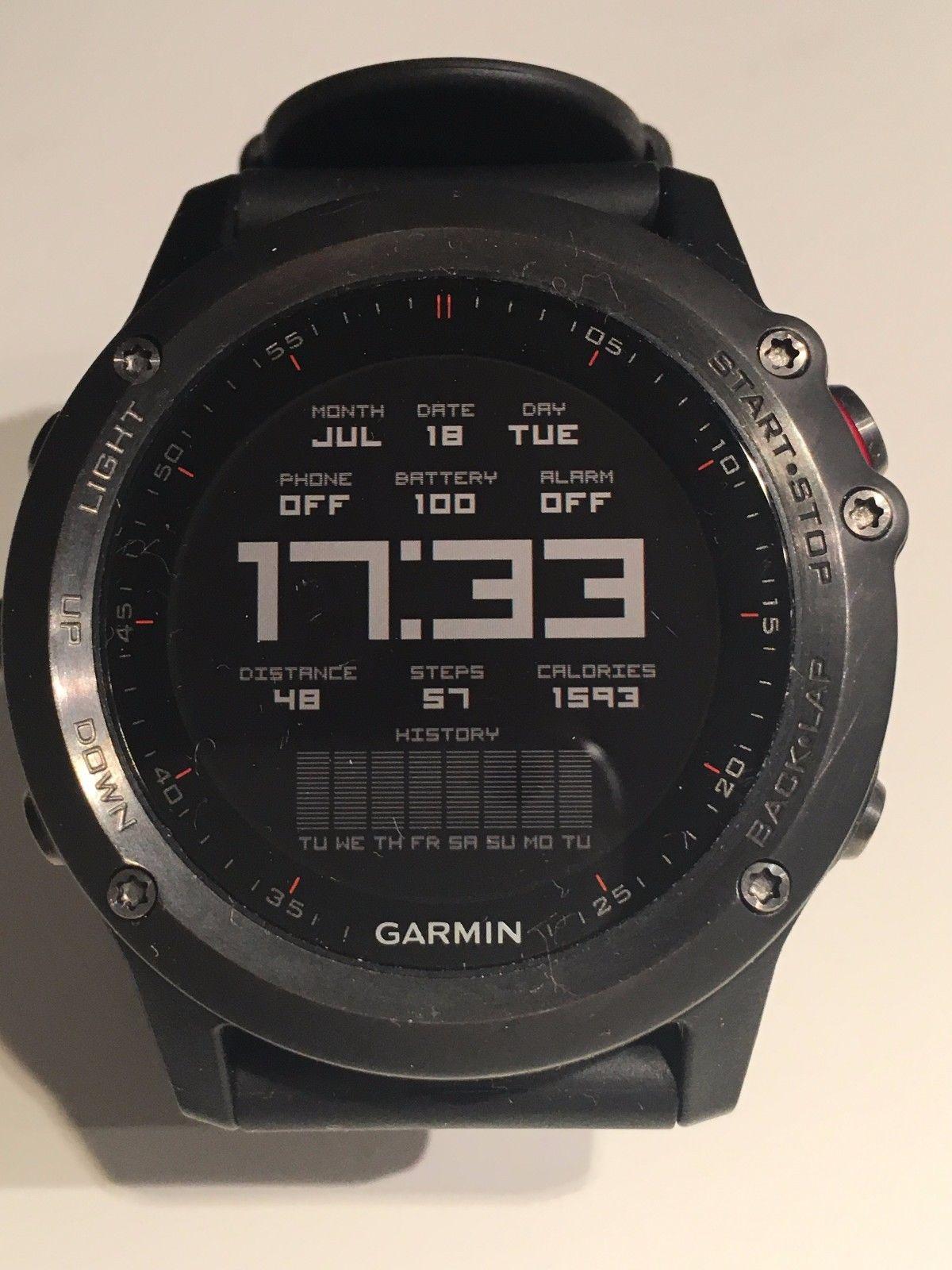 Armbanduhr Garmin Fenix 3, Multisport, schwarz, sehr guter Zustand