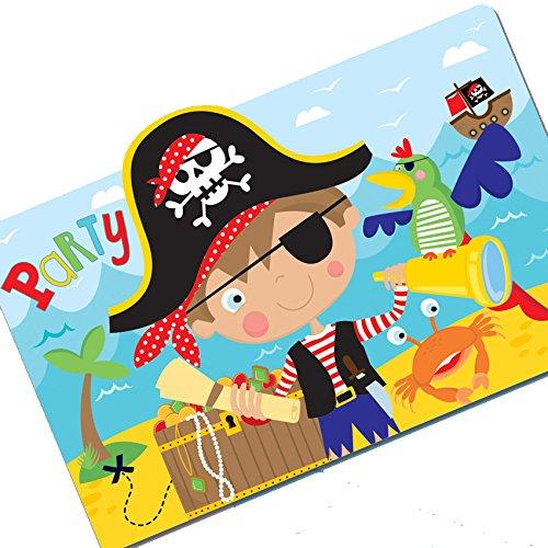 Amscan 491622Little Pirat Einladung Postkarten