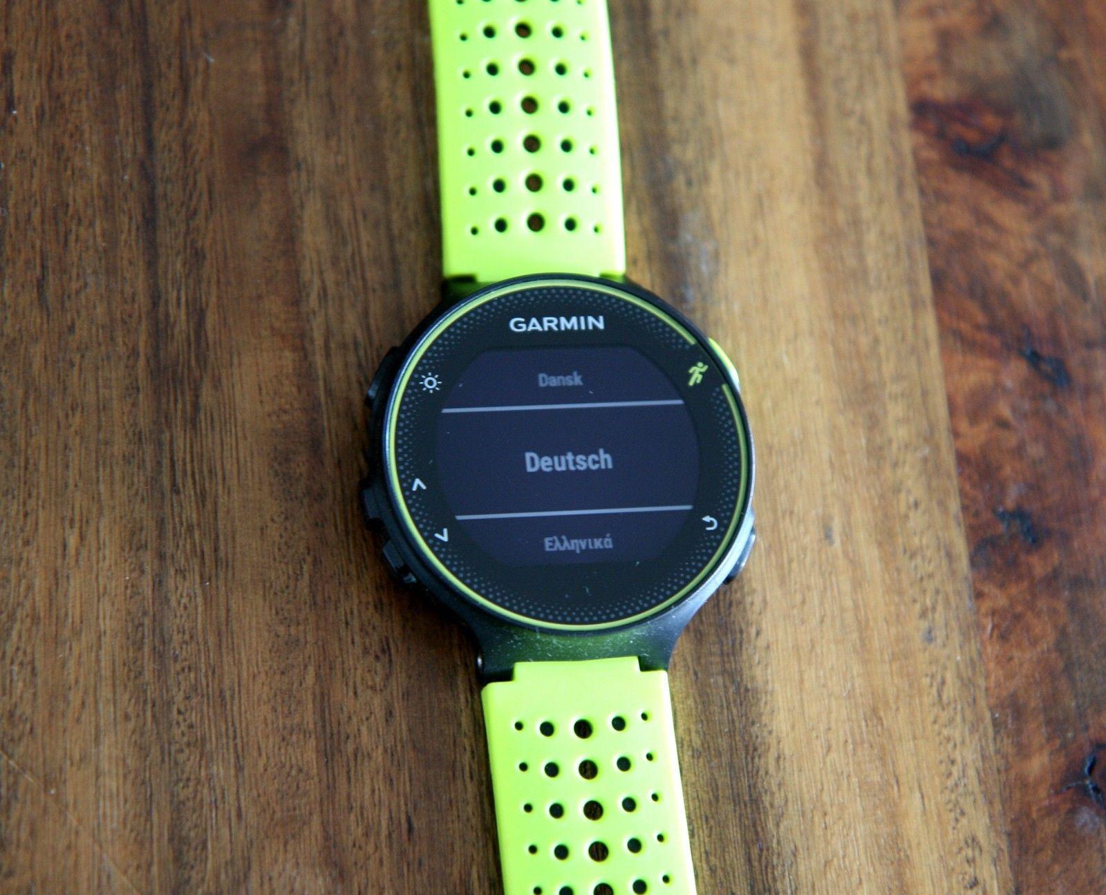 Garmin Forerunner 230 GPS-Laufuhr gelb schwarz