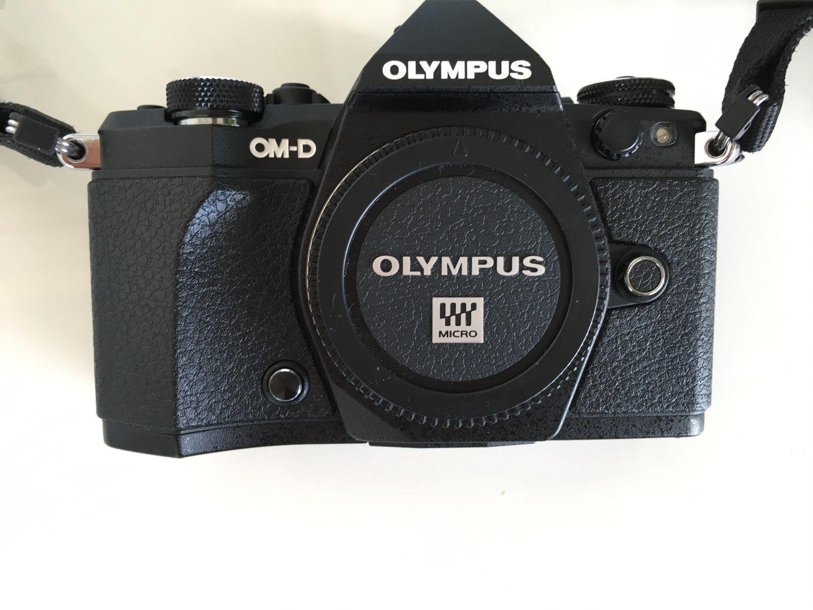 Olympus OM-D E-M5 II 16.1MP Digitalkamera - Schwarz (Nur Gehäuse) Neuwertig
