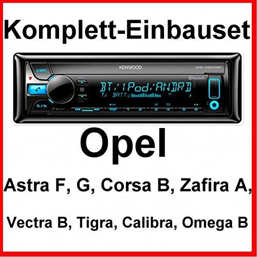 Komplett-Set Opel Astra F G Corsa B Zafira A Kenwood KDC-X5000BT Autoradio USB