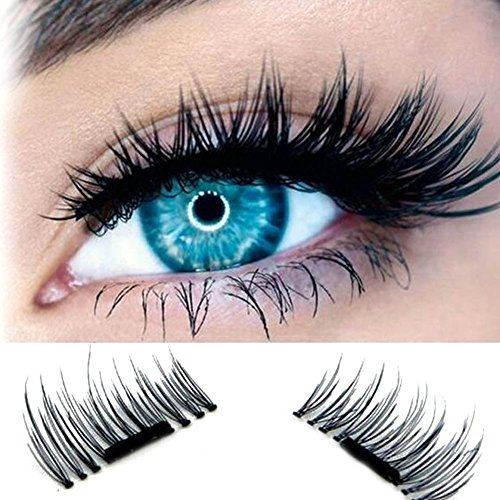 ROPALIA 4 Pcs/Pairs 3D Magnet Magnetische Falsche Wimpern Eye Beauty Makeup