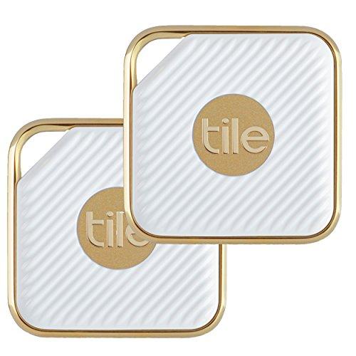Tile Style - Schlüsselfinder. Telefonfinder. Allesfinder (Champagner) - 2er-Pack