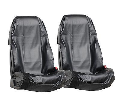 2x Sitzschoner Werkstattschoner Sitzbezug KUNSTLEDER KFZ Schonbezug Wasserdicht
