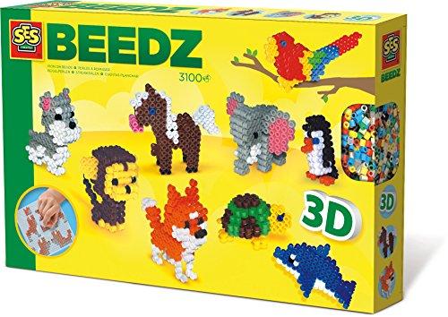SES creative 06126 - Bügelperlenset 3D Tiere, gelb