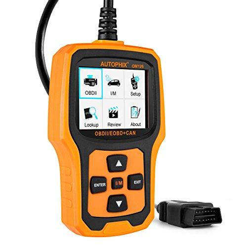 Autophix OM126 KFZ OBD2 Diagnosegerät für Alle Fahrzeuge Universal Auto Fehlercodes Auslesegerät OBDii Diagnose Scanner Motorwerkzeug mit Farbdisplay Orange