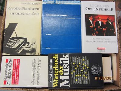 46 Bücher klasische Musik Oper Pianisten Musikgeschichte Komponisten