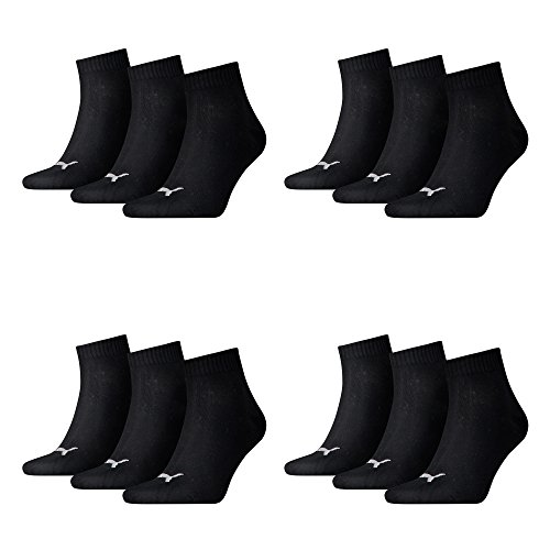 PUMA Unisex Sneakers Socken Sportsocken 12er Pack, mt (43/46, Black)