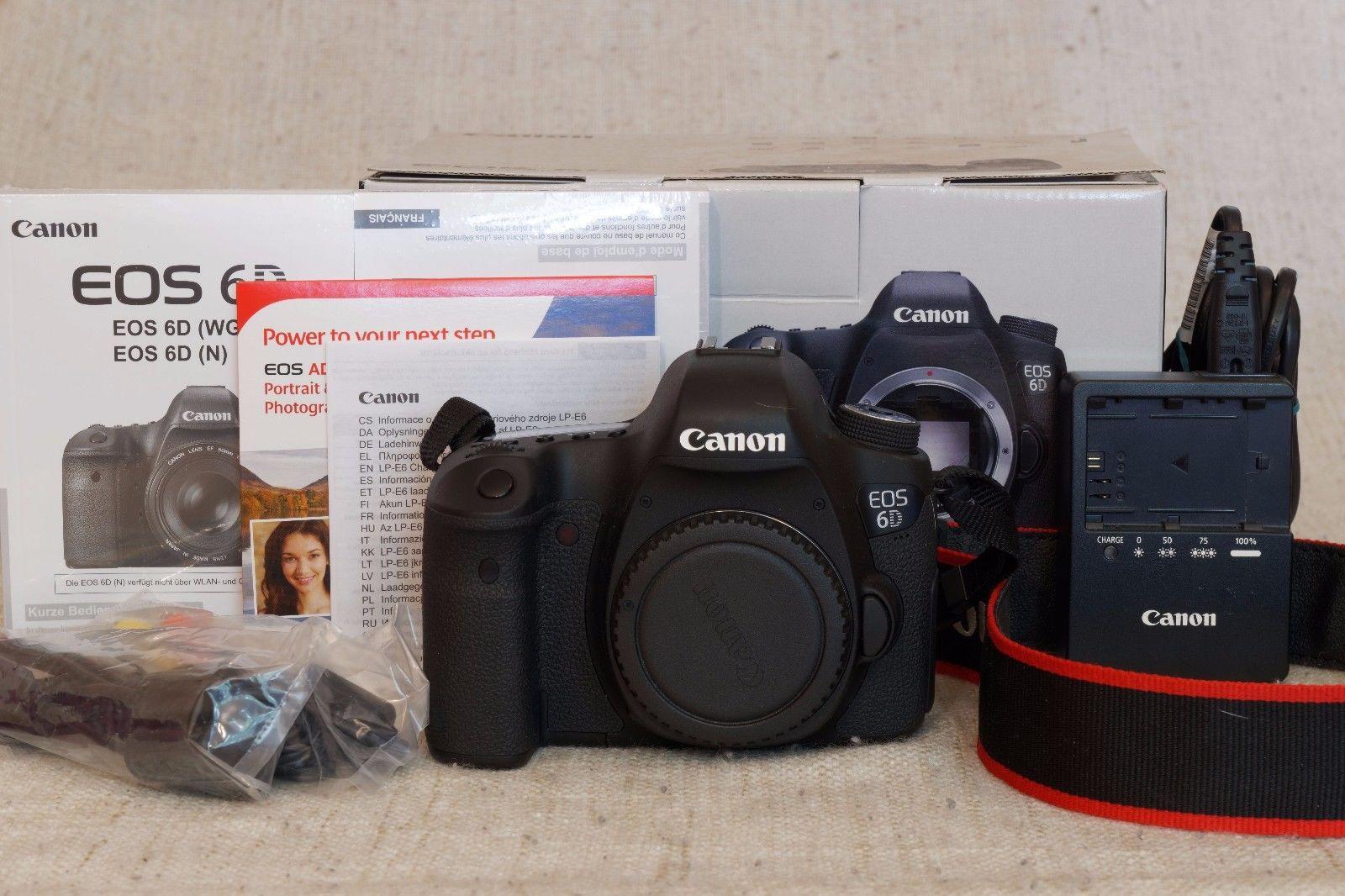 Canon EOS 6D Vollformat DSLR Gehäuse mit 20.2MP und 1080p. Nur 4529 Auslösungen!