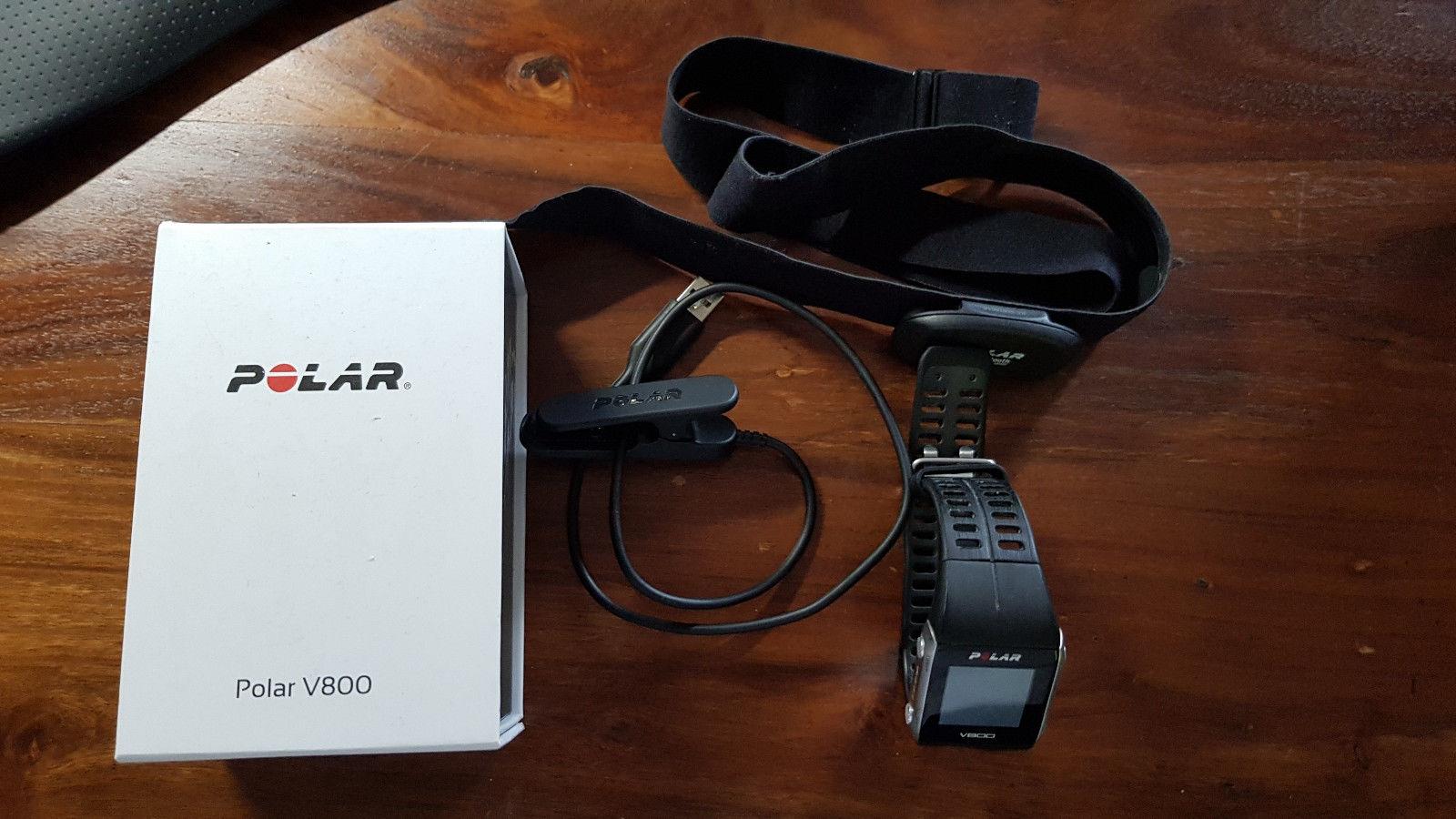 Polar V800 Fitness Uhr GPS-Tracking neues Modell mit Brustgurt sehr guter Zustan