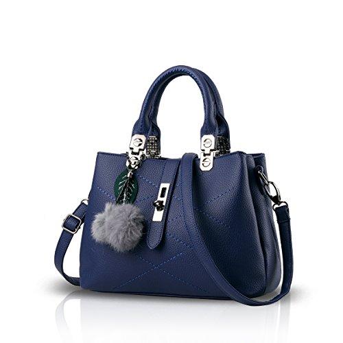 Nicole&Doris 2017 neue Welle Paket Kuriertasche Damen weiblichen Beutel Handtaschen für Frauen Handtasche(Blue)