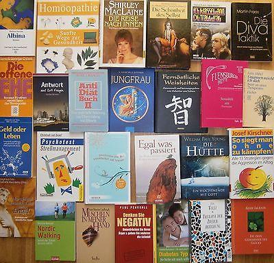 Buchpaket: Esoterik, Psychologie, Homöopathie, Heilkunde, Therapie. 26 Bücher