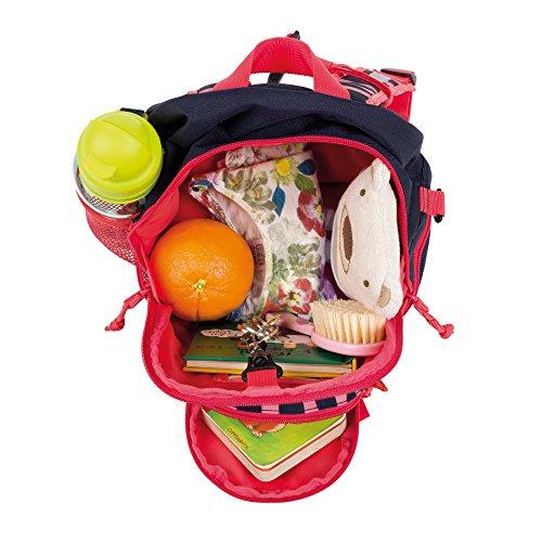 Lässig Kindergartenrucksack Kindergartentasche, Mini Backpack Little Monsters, Navy Korall Kinder-Rucksack, 27 cm, Bunt