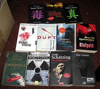 11 Bücher Krimis Thriller Schätzing Hoffmann Zorn Etzold u.a. Taschenbücher