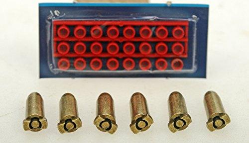 Messing Patronen Metallkugeln mit Platzpatronen / Zündhütchen für Denix Revolver 8 x24 mm