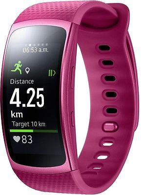 Samsung Gear FIT 2 SM-R3600 Pink S Fitness-/Schlaftracker Sportuhr Schrittzähler