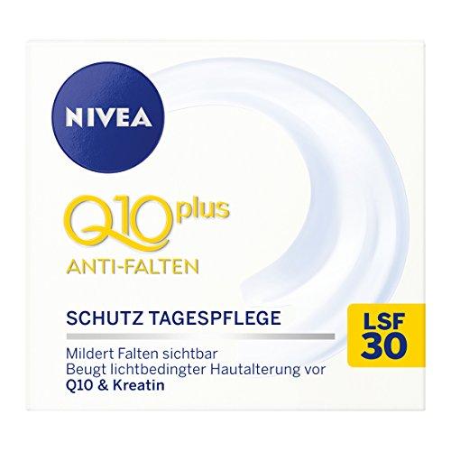 NIVEA 2er Pack Anti-Falten Schützende Tagespflege, 2 x 50 ml, Q10 plus