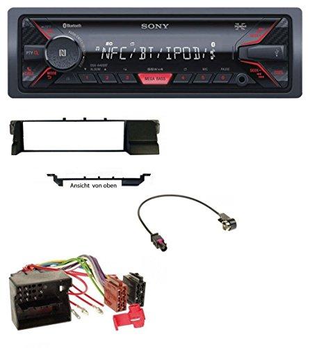 Sony DSX-A400BT Bluetooth AUX USB MP3 Autoradio für BMW 3er E46 (Profiversion Quadlock)