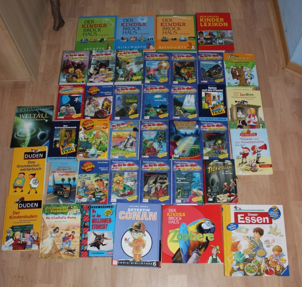 39 teiliges Kinder Bücherpaket (ca.15kg) - Tiger Team, Duden, Brockhaus und mehr