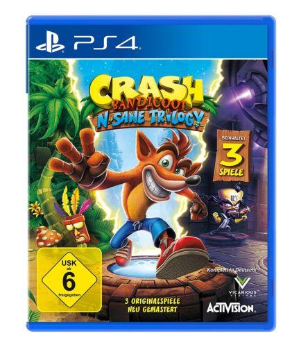 PS4 Spiel Crash Bandicoot 1 + 2 +3 N.Sane Trilogy auf Lager Paketversand NEU