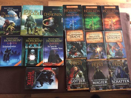 Buecherpaket 16 Fantasy Romane Von Den Verschiedensten Autoren