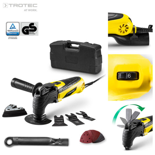 TROTEC PMTS 10-230V Multifunktionswerkzeug Multitool inkl. Zubehör im Koffer