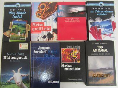 65 Bücher Romane deutsche Krimi Kriminalromane Thriller Psychothriller